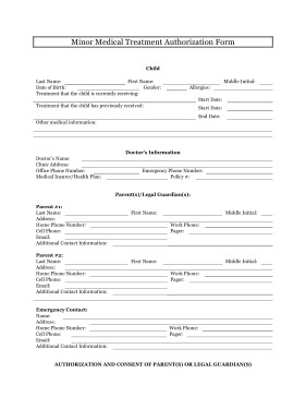 Modest image with printable medical consent form