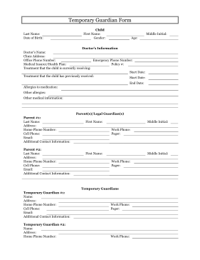 5 free printable forms for single parents single parent for Free legal documents templates